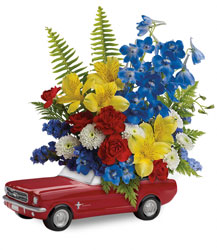 Teleflora's '65 Ford Mustang Bouquet  from Mona's Floral Creations, local florist in Tampa, FL