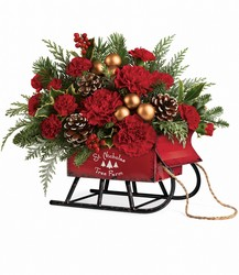 Vintage Sleigh Bouquet from Mona's Floral Creations, local florist in Tampa, FL