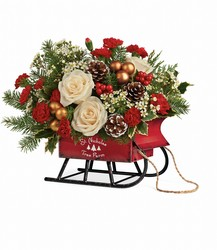 Joyful Sleigh Bouquet from Mona's Floral Creations, local florist in Tampa, FL