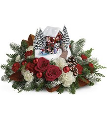 Thomas Kinkade's Snowfall Dreams Bouquet from Mona's Floral Creations, local florist in Tampa, FL