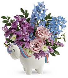 Enchanting Pastels Unicorn Bouquet from Mona's Floral Creations, local florist in Tampa, FL