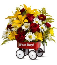 Baby's First Wagon - Boy from Mona's Floral Creations, local florist in Tampa, FL